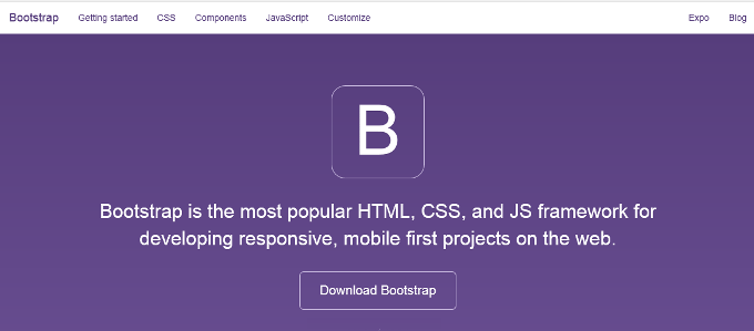 Bootstrap web site